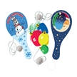 Holiday Stocking Stuffer - 12 Christmas Paddle Balls