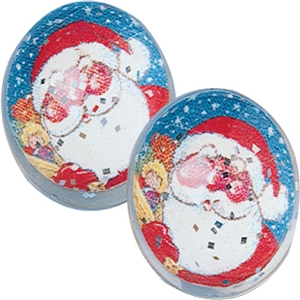 Holiday Stocking Stuffer- 12 Santa Balls