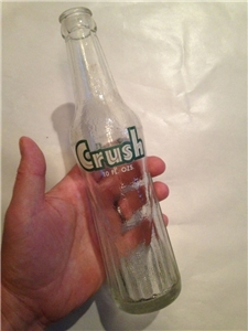 Vintage Crush Acl Soda Bottle Evanston Illinois Criwn Top