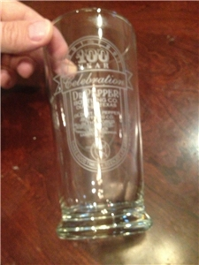 Collectible Dublin Dr Pepper 100 Year Anniversary Glass 1991 Dublin Texas TX