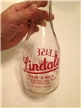 Vintage Large One Quart ACL Lindale Milk Bottle Return Promptly
