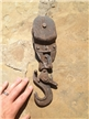 Old Antique Cast Iron Pulley Farm Tool