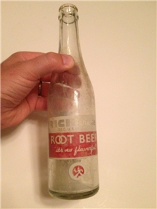 Vintage Richardson Root Beer Soda Bottle Chase Bottling Waco Texas Tx 1954
