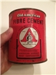Vintage Old American Fibre Cement Tin Metal Can American Asphalt Roof MO, TX, UT