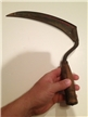 Old Vintage Farm Hay Sickle Wood Handle