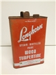 Vintage Longhorn Wood Turpentine 1 Gallon Tin Metal Oil / Gas Can San Antonio TX