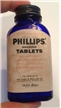 Vintage Phillips Magnesia Blue Medicine Bottle W/ Label Chas H Phillips Co