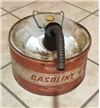 Old Vintage Gasonline Can W/ Spout 2.5 Gallon Prepriced Wards Powr-Kram