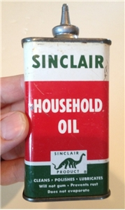 Vintage Sinclair Oiler Tin Metal Can Lead Spout 4 Oz New York