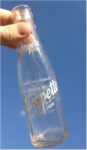 1946 Vintage Grapette 6 Oz Soda Bottle Houston Texas Tx ACL