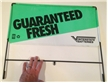 Original Interstate Batteries Metal Double Sided Rack Sign Guaranteed Fresh