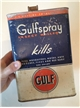 Vintage One 1 Gallon Gulf Spray Insect Killer Gulf Oil Corp Metal Tin Can