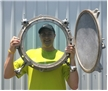 "Large Vintage Ship Port Hole 16"" Heavy Steel Thick Glass Maritime Nautical Decor"