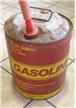Old Vintage Metal Gasoline 5 Gallon Can Bucket Red KP Industries
