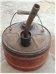 Old Vintage Wizard Gasoline Western Auto Supply Co Metal Can W/ Spout