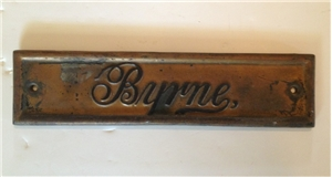 Vintage Byrne Piano Cast Iron Plaque Sign Collectible Music Advertising