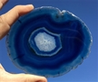 Large Blue Agate Slab Sliced Polished 5""