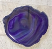 Large Translucent Purple Agate Slab Sliced Polished 4.5""