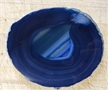 Large Dark Blue Agate Slab Sliced Polished 5.25""