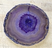 Large Translucent Purple Agate Slab Sliced Polished 4.75""