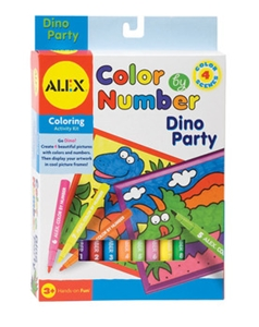 Color By Number - Dinosaur Party