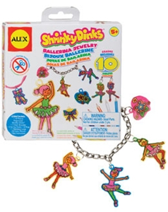 Shrinky Dinks Ballerina Jewelry