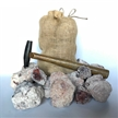 "Break Crack Open Large Mexican Amethyst Geodes 3"" Gift Bag (10 Geodes)"
