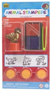 Wild Republic Animal Stampede - stamp set - assorted stamper dinosaur design,