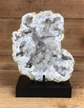 Moroccan Cut Geode Crystals on Metal Base 6""
