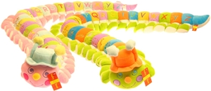 ABC's Caterpillar Plush Pastel 5 ft. - pink head