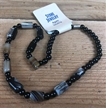 Agate Stone Necklace | Black and Natural Stones