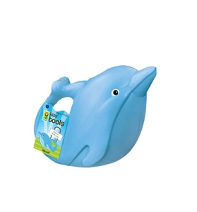Kids Plastic Watering Can - Blue Dolphin, kids garden toys. dolphin water can, toysmith, kids garden