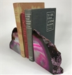 Set of 2 Polished Agate Geodes Bookends | Pink 5""