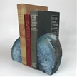 Set of 2 Polished Agate Geodes Bookends | Blue 4.5""