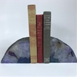 Set of 2 Polished Agate Geodes Bookends | Purple 3.5""