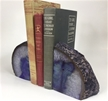 Set of 2 Polished Agate Geodes Bookends | Purple 4.25""