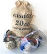 20 Break Your Own Whole Moroccan Geodes Gift Bag w/ Kids Hammer & Goggles