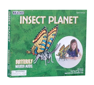 Insect Planet - Butterfly Wooden Model