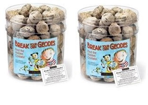 Bulk Break-Your-Own Geodes - Medium with Jar by Geocentral, Unopened geodes, Whole geodes to crack