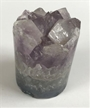 Amethyst Crystal Health & Healing Cupcake Cylinder | Light Crystals 2""