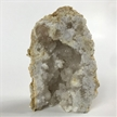 "Standing Cut Moroccan Geode Halve 3""  Large White Clear Crystals"