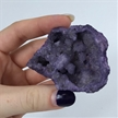 Purple Cut Geode Halve Colored Dyed Druzy Enhanced 2""