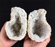 "Cut Moroccan Geode Halve 5.5""  Large White Clear Crystals"