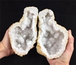 "Cut Moroccan Geode Halve 7""  Large White Clear Crystals"