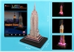 Empire State Building 3D Puzzle with Base and Lights