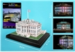 White House 3D Puzzle with Base and Lights 56 Pieces