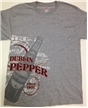 Dublin Dr Pepper Dark Grey Wrap Around Logo Shirt- Medium