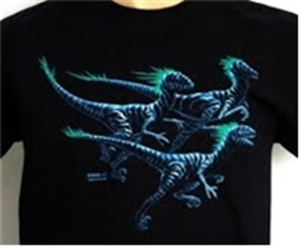 Dinosaur Shirt Deinomight-Glow in the Dark Youth X-Small