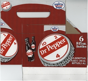 Dublin Dr Pepper 6 Pack Holder - Cardboard Carrier