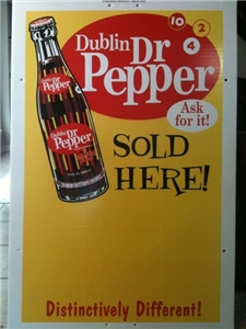 Dublin Dr Pepper Large 4 Foot Advertising Sign Bottle